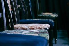 Krzesła w teatrze fotografia stock