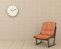 krzesła zegaru ściana Zdjęcia Royalty Free