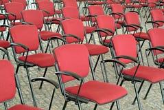 krzesło audytoriów opróżniają czerwony Obrazy Stock