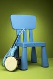 krzesło błękitny dzieciak Obrazy Royalty Free