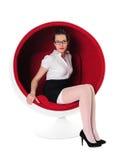 krzesło balowa dziewczyna Obrazy Royalty Free
