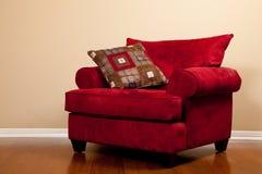 krzesło czerwień pusta farbic obraz stock