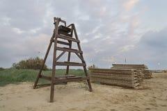 Krzesło dla baywatch obraz stock