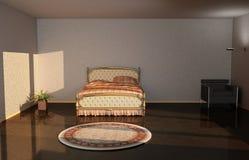 Krzesło i łóżko ilustracji