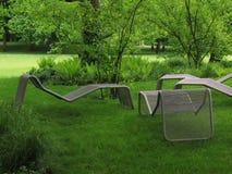 krzesło leży park Fotografia Stock
