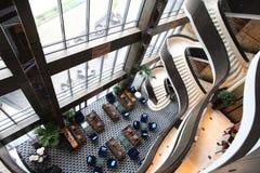 krzesło lobby hotelu tabela kanap whit obraz stock
