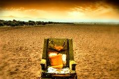 krzesło lounge desert fotografia royalty free