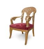 krzesło luksus złoty odosobniony Obraz Royalty Free