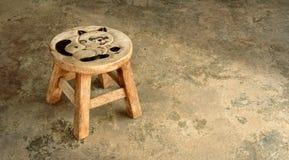 krzesło mały drewniany Fotografia Royalty Free