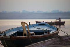 Krzesło na łodzi Fotografia Royalty Free