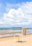 Krzesło na plaży Zdjęcia Stock