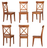 Krzesło odizolowywający na białym tle obrazy stock