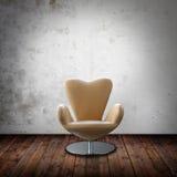 krzesło pokój wewnętrzny rzemienny Obrazy Stock