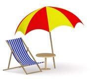 krzesło pokład Zdjęcie Royalty Free