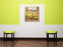 krzesło projekt wewnętrzni nowożytni dwa ilustracji