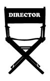 krzesło reżysera filmów Obraz Stock