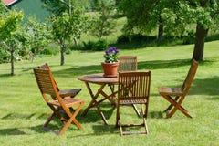 krzesło stół Obrazy Royalty Free