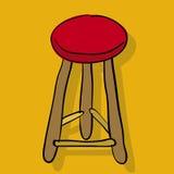 krzesło stołek wektora ilustracja wektor