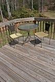 krzesło stołu pokładowego drewna fotografia royalty free