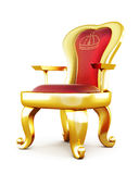 Krzesło z aksamitnymi poduszkami ilustracji