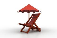 Krzesło zakrywający parasolem ilustracji