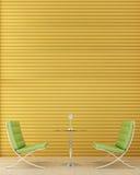 krzesło zieleń dwa Zdjęcia Stock