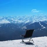 krzesła gór zima Zdjęcia Royalty Free