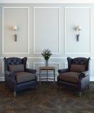 Krzesła i kwiat Obraz Royalty Free