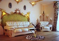 krzesła izbowy kanapy biel Obrazy Stock