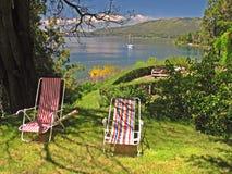 krzesła jeziora góra Zdjęcia Stock