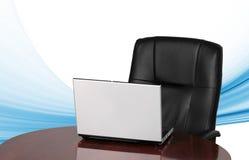 krzesła laptopu biuro Fotografia Stock