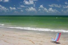 krzesła morze Fotografia Stock
