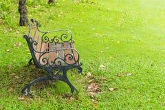 Krzesła na gazonie w parku zdjęcia royalty free