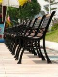 krzesła na kwadracie Fotografia Stock