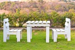 krzesło biel Obraz Stock