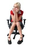 krzesło bizneswomanu young Obrazy Royalty Free