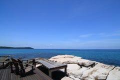 krzesło blisko morza Zdjęcie Stock