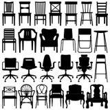 krzesło czarny set Obrazy Royalty Free