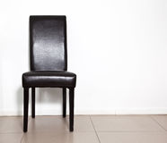 krzesło czarny skóra Zdjęcia Royalty Free