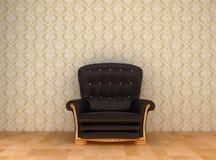 krzesło czarny skóra Obraz Royalty Free
