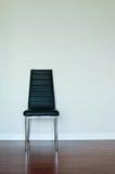 krzesło czarny skóra Zdjęcie Royalty Free