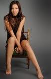 krzesło dziewczyna Fotografia Royalty Free