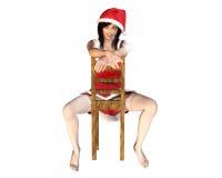 krzesło dziewczyna Santa royalty ilustracja