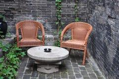 Krzesło i biurko Obrazy Stock