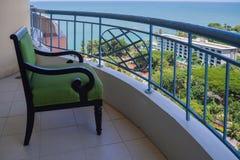 Krzesło jest na balkonie Obrazy Royalty Free