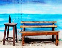 krzesło kanap drewniane Fotografia Royalty Free