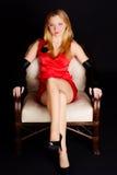 krzesło kobieta Zdjęcie Stock