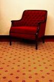 krzesło lounge czerwony Obraz Royalty Free