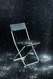 Krzesło na czarnym tle Zdjęcie Stock