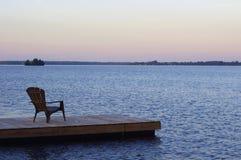 Krzesło na doku Zdjęcia Royalty Free